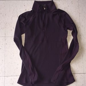 Purple quarter zip up